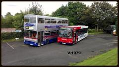 1401 & 2912 (Vinyl 1979) Tags: 2912 1401 d912nda p401ejw wmt twm westmidlandstravel volvob10l mcwmetrobus timesaver wythalltransportmuseum wmpte mcw