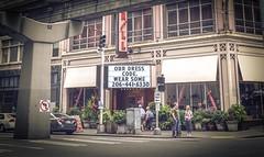 Wear Some? - Seattle, Washington (, ) (dlau Photography) Tags: seattle washington   wearsome  dresscode    interesting  travel tourist vacation visitor people lifestyle life style sightseeing   trip   local   city  urban tour weather   sign  astoundingimage
