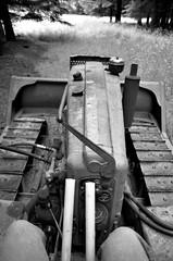 John Deere crawler (ektarama) Tags: ektarama film nikon fm 24mm bw baldpeak chehalem mtn oregon johndeere crawler antique