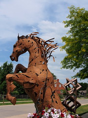 P6080800 (photos-by-sherm) Tags: good quilts retail garden flowers sculpture yard accessories amana iowa summer decorations metal