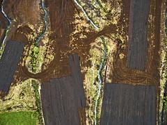323072016 (2c..) Tags: ireland irishpeatlands kildare 2c 2cireland dji drone abstract peatland harvest turf landscape irishlandscape random oreder stream aerial lookingdown tracks peat digitallywatermarked