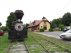 L. & B.R. Railroad Depot, And Railroad Museum, Croghan, NY (CNYrailroadnut) Tags: lowville beaverriverrailroad lewis county beaver falls ny new york central museum bremen railway depot station croghan steam locomotive shay no 8
