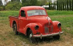 Austin A40 Pickup Truck (Custom_Cab) Tags: austin a40 devon pickup truck pick up red old vintage farm canada canadian lorry 1947 1948 1949 1950 1951 1952 1953 1954 1955 1956 field grass rusty