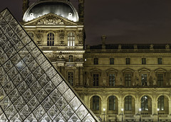 Louvre pyramide (BLAKELEY FREDERIC - Just for pleasure) Tags: paris ledefrance france louvre blakeley parisnight pyramide monuments sony extrieur ilc7ii night
