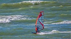 Windsurfing - North Sea - Port of Rotterdam (Frans Berkelaar) Tags: noordzee northsea zuidholland nederland nl maasvlakte2 portofrotterdam rotterdam windsurfing