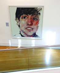 McCartney (Snapshooter46) Tags: people nationalportraitgallery london painting picture face youngman woodenfloor bannister artwork paulmccartneymikesbrother artist samwalsh