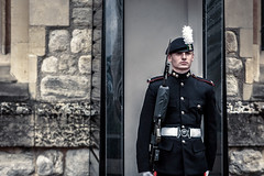 Guard of London Tower (Hellwalkerdh) Tags: ifttt 500px guard people soldier suit london tower british england guardian kiosk black cold protect gun