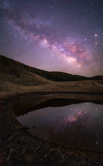 Milkyway in the mirror (mt.moco) Tags: milkyway star night a7r2 sony sigma 20mm f14