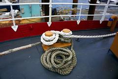 Lightship stern, Boston MA (Boston Runner) Tags: lightship nantucket lv112 boston harbor massachusetts 1936 shipyard marina eastboston museum preserved stern rope tied