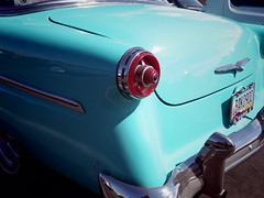 1954 Ford seen in Cottonwood AZ (EllenJo) Tags: pentaxqs1 pentax september2016 ellenjo ellenjoroberts 2016 ford 1954ford car americancar teal turquoise
