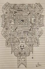 Mandala (V.R.V) Tags: asus zenfone selfie smartphone celular snapseed hdr hand drawing handrawing desenho caneta pen black preta mandala abstract abstrato random aleatorio