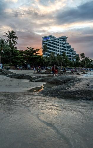 Sea/city scape in Hua Hin