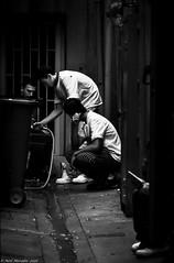 The Dark Under-Belly (Neil. Moralee) Tags: franceneilmoralee neilmoralee kitchen porter chef waste food dirt dirty hygiene work worker ally bin rubbish staff france dark man men restaurant nikon d7100 neil moralee black white bw blackandwhite mono monochrome candid