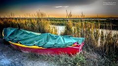 Some rest. (Jean McLane) Tags: auborddeleau boat sunset sky colorful waterfront