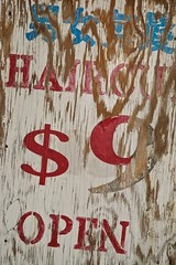(slidefarmer2015) Tags: barbershop eastsidevancouver kingsway renfrewcollingwood sign signsvancouver vancouver vancouverbc vres vrsn weathered