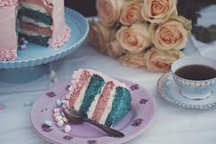 Tarta - Marshmallows - 3 WEB (manuel ek) Tags: cake trta marshmallows mini pink turquoise sweet homemade bakery party fujifilm samyang 50mm manuelekphoto