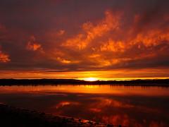 South Alloa, Stirlingshire , Scotland (cocopie) Tags: south alloa stirlingshire scotland sunset clouds forth river