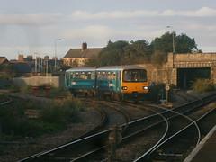 143606 @ Barry (ianjpoole) Tags: arriva trains wales 143606 working 2m08 barry island merthyr tydfil