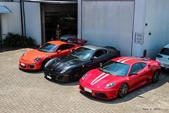 Scuderia & GTO & GT3RS (phctba) Tags: ferrari 430 scuderia rosso f1 599 gto nero opaco porsche 911 gt3rs 991 track weapons supercars curitiba brazil