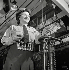 1943 ... bus conductress - US (x-ray delta one) Tags: ww2 worldwarll 1945 looselips 1942 propaganda allies nazis patriotism oldglory 1939 1940 1941 1943 1944 japs liberation defense spies pearlharbor raf wacs waves coastguard marines army armyairforce spars wow homefront blitz airraid