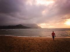 365 Project - Sept 17 (lupe1515) Tags: 365 project beth jim kauai hawaii vacation sunset princeville sand beach ocean