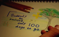 100 DAYS  266/366 (horsesqueezing) Tags: 366the2016edition 3662016 day266366 22sep16 selfie drawing colour pencils onlyonehundreddaystogo hand selfportrait