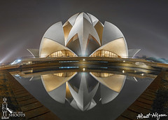 Black Lotus (nimitnigam) Tags: life new panorama india white house black reflection building monument beauty architecture night speed temple photography blurry nikon worship long exposure gallery slow place shot image lotus photos delhi indian smooth symmetry stop shutter symmetrical shoots incredible nimit bah nigam icapture d3000 flickraward dpeg