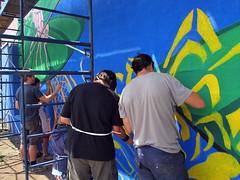 LE MARAIS | MU | 2011 (MUmtl) Tags: streetart mural montreal mu roadsworth artpublic verdun lemarais murale arturbain petergibson phillippeallard philippezotiquemillette