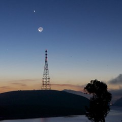 Venus Over The Moon (Eric Dugan) Tags: park moon dawn twilight venus state mercury benicia vallejo crescentmoon vallejoca glencove mountdaibalo