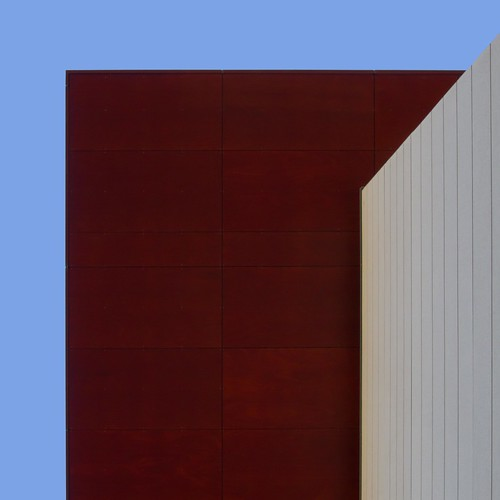 structure in red and tan