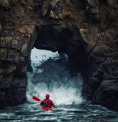 S C A L E  II (Silent G Photography) Tags: california ca door beach rain cali clouds kayak waves arch action crash bigsur pch highway1 seakayak centralcoast keyhole 2012 pfeifferbeach pacificcoasthighway actionsports pfieffer seakayaker markgvazdinskas silentgphotography silentgphoto