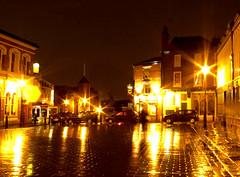 Market Square evening (Johnny Onions) Tags: rain pub cheshire historic nightime stockport cobbles boarshead marketsquare samsmiths turnersvaults