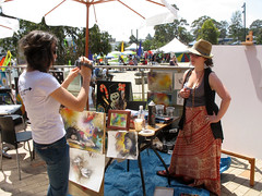 069 (dorofofoto) Tags: canon painting happy spring artwork dancing daughter sunny colourful multicultural candice 2009 carmelina views50 views100 views75 views25 narellan artycaf