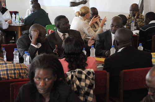 Participants at the AAS Barotse Hub Roll-Out workshop. Photo by Georgina Smith, 2012.