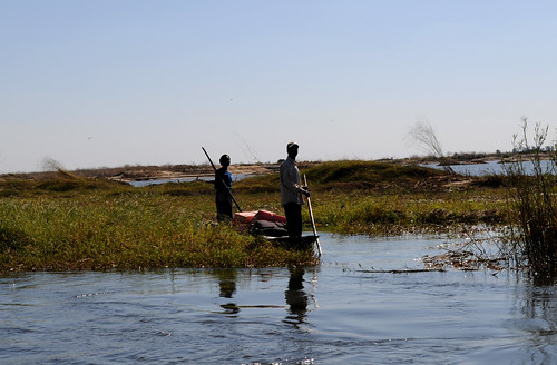 Small-scale fisherman in Barotse Floodplain.