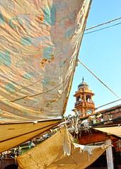 Awnings, Sardar Market, Jodhpur, India (MJ Reilly) Tags: india tower clock square market indian victorian clocktower rajasthan jodhpur sardar sardarmarket maharajasardarsingh