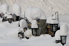 Winter on the graveyard (Basse911) Tags: snow graveyard suomi finland december hanko nordic finnish snö lunta hautausmaa hangö joulukuu gravgård