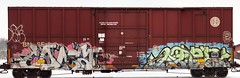 BNSF 728936 (This Car Excess Height) Tags: santa door art burlington bench graffiti railcar apex vandalism plug boxcar fe northern freight height bnsf excess coma