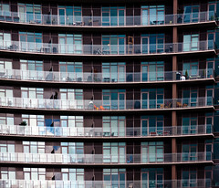 All Living in the Same Box (Orbmiser) Tags: winter building oregon portland nikon condo balconies reptition d90 55200vr