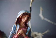 Dulce Mara. (airamzr) Tags: christmas film 35mm navidad mujer fuji 200 virgenmara