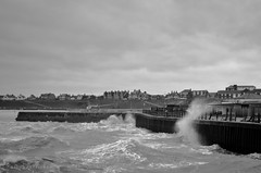 Stormy Seas (Number Johnny 5) Tags: sea storm pier waves stormy rough gorleston d7000