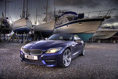 BMW Z4 HDR 2 (Bucky O'Hare) Tags: blue art car boats boat high dynamic artistic bmw z4 shipyard range hdr boatyard