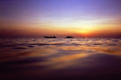 Bamfield beach, Torres Strait (electricnerve) Tags: camera sunset film boats nikon waves underwater markroy bamfield actiontouch torresstrait muralag