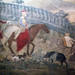 Detail of horsemen and farmer with pig from Ambrogio Lorenzetti's Effects of Good Government in the City and the Country