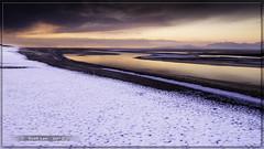 Last 2012 Sunset (Just Used Pixels) Tags: winter sunset lake cold reflection ice water antelopeisland greatsaltlake