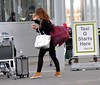 Brian McFadden and Vogue McFadden arrive at Dublin Airport after spending New Year's Eve in Spain with Vogue's family. Dublin