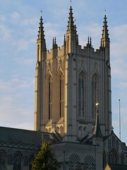Bury St Edmunds (Dusts Photography) Tags: old uk england sun cold church abbey st stone gardens golden bury suffolk ruins december cathedral britain religion clear flare edmunds stedmunds