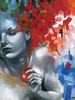 Persephone (Patricia Ariel) Tags: red portrait woman abstract art geometric fruit female painting greek acrylic goddess pantheon pomegranate canvas oil mythology persephone myth figurative pagan patriciaariel