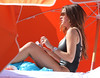 Colombian actress Sofia Vergara soaking up the sun on Miami Beach