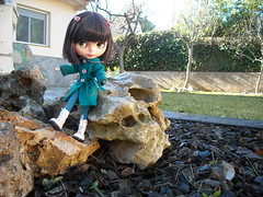 Emily on the rocks